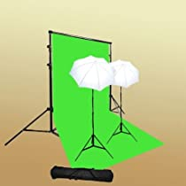 ePhoto Photography Video Continuous light Lighting Studio Video Light Lighting ChromaKey Chroma Key Green Screen + Support Kit by Ephoto T69green/bag