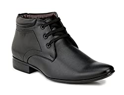 Mactree Mens Black Artificial Leather Lace Up Boots Fr12-6