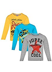 Punkster 100% Cotton T-Shirts Combo For Boys