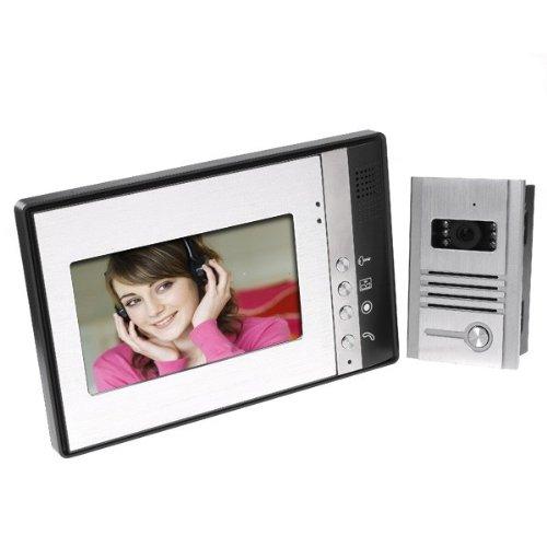 """Kingzer 7"""" Tft Lcd Video Door Phone Intercom Doorbell Kit Camera Monitor Ir Night Vision"""