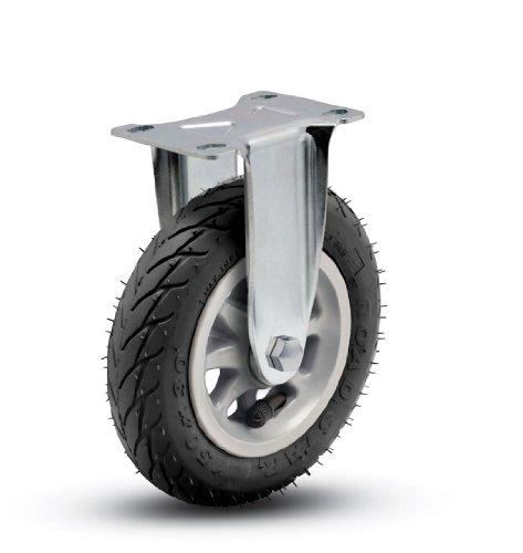 Shepherd Institutional Series 6″ Diameter Ball Bearing Pneumatic Wheel Rigid Caster, 3-3/4″ Length x 2-5/8″ Width Plate, 150 lbs Capacity, Black