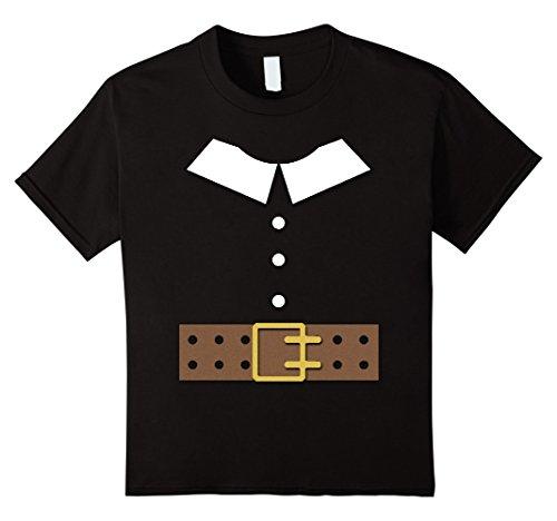 [Kids Thanksgiving Pilgrim Costume Shirt 4 Black] (Boy Pilgrim Costumes)