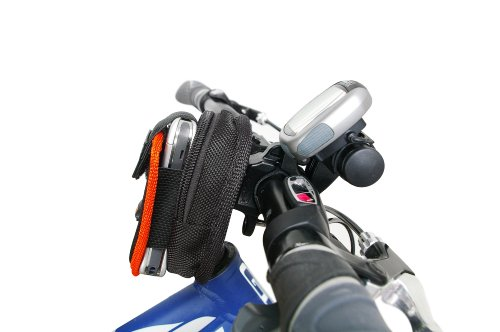 Large Bicycle Cell Phone Handlebar Bag with mini bar
