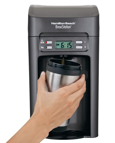 Hamilton Beach 48275 Brew Station 6-Cup Coffeemaker, Black/Gray