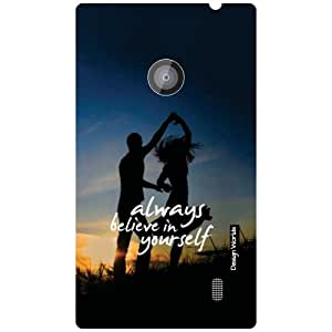 Design Worlds Nokia Lumia 520 Back Cover - Belive Designer Case and Covers
