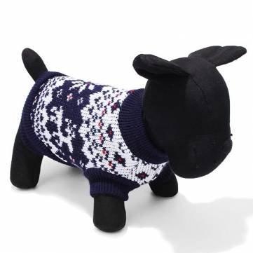 cane di alta stella animale domestico senza maniche in maglia maglione nero