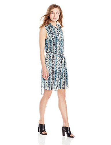 5 on 7 new york Women's Sleeveless High-Low Tunic Dress