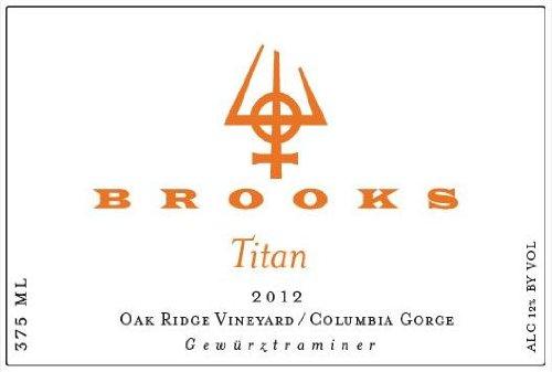 "2012 Brooks ""Titan"" Gewurztraminer Oak Ridge Vineyard 375 Ml"