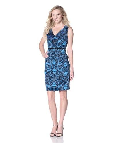 Marc New York Women's Ruffle V-Neck Dress  - Multi