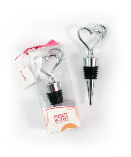 Weddingstar-Fused-in-Love-Double-Heart-Wine-Stopper-in-Gift-Packaging-Model-8869-Home-Kitchen