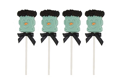 [Freaky Frankenstein Chocolate Lollipops: Halloween Milk Chocolate Monster On a Stick, Perfect for Trick-or-Treating and Halloween] (Quick Costume Ideas For Work)