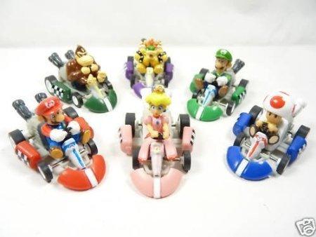 BIGOCT Mario Kart Cars Pull Backs Figure Set (Super Mario Brothers compare prices)