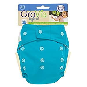 GroVia Hybrid Snap Shell Diaper, Surf, One Size (Discontinued by Manufacturer)
