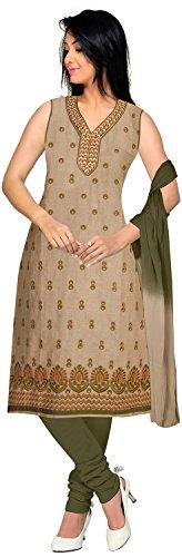 Elan Vital Women's Cotton Straight Salwar Suit - B0188YG3PK