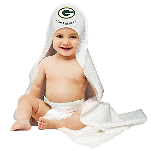 Nfl Green Bay Packers White Hooded Baby Towel front-528990