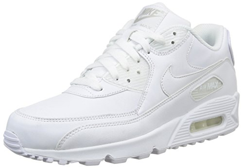 Nike Air Max 90 Leather Scarpe da ginnastica, Uomo, Bianco (True White), 43