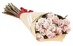 24 Long Stem Light Pink Rose Bouquet - No Vase