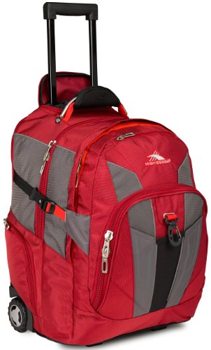 B00GR7C0OY High Sierra XBT Wheeled Backpack, Carmine/Red Line/Black