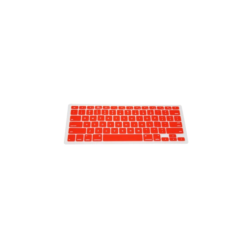 Bright Red Preprint Silicone Keyboard Cover for Aluminum Unibody Macbook Pro 13 15 17