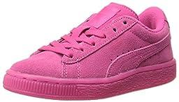 PUMA Suede Iced Fluo Kids Sneaker (Toddler/Little Kid/Big Kid) , Beetroot Purple/White, 2.5 M US Little Kid