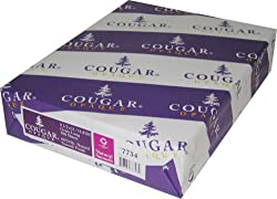 "Cougar Opaque Cover White Smooth 65# Cover 8.5""x11"" 250 sheets"