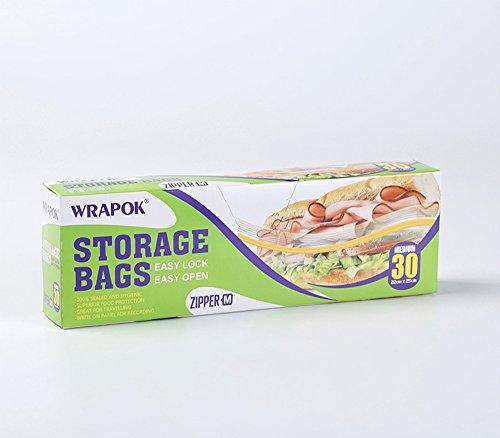 Sacs de conservation / congélation / Poche, pochette de transport - Fermeture ZIP - Modèle moyen - Boîte de 30 sacs - 25 x 22 cm x 45 µm - Usage domestique et industriel