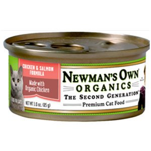 Newman's Own Can Cat Chicken & Salmon 3 oz Case 24