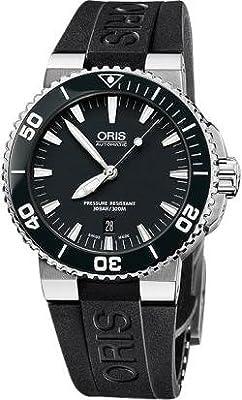 Oris Aquis Date 43 mm Steel/Rubber Mens Watch 733-7653-4154RS