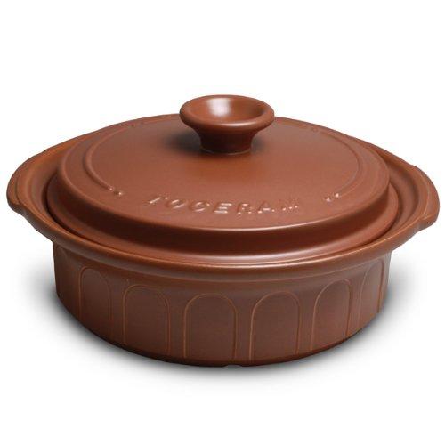 【Amazonの商品情報へ】西日本陶器 ニュートーセラム鍋 25センチ浅型 直火対応型 茶 TSP-900AM-S