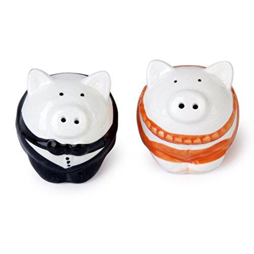 TOOGOO(R) Pot de Sel comme Cadeau de Mariage Pot de Sal en Forme de Cochon
