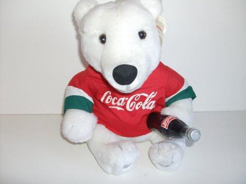 Coca Cola Polar Bear  Red Shirt Holding Coke