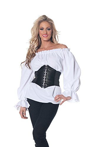 Halloween Party Pirate Chemise Renaissance Peasant Wench Blouse Shirt