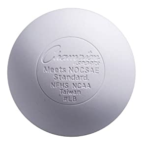 Champion Sports Official Lacrosse Balls Nocsae-pack of 12-white by Champion