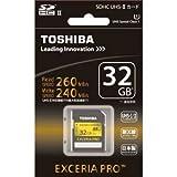 東芝 SDHCメモリーカード 32GB UHS-IIEXCERIA PRO SDXU-032GA