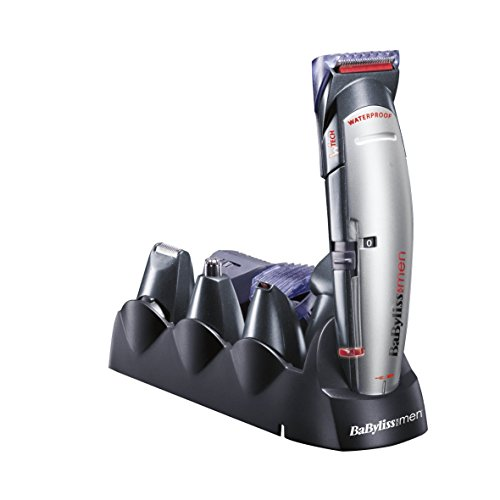 BaByliss For Men E837E X-10 Kit Multiuso Lame Wtech Speciale, Viso, Capelli e Corpo, Rete / Ricaricabile