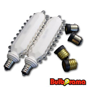 Led Exit Sign Retrofit Kit 3 Watt Red Led Bulbs Converts Incandescent Exit Signs To Led Bulbs
