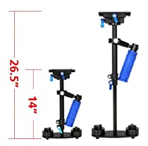 "StudioFX Camera Stabilizer Steady Cam DV DSLR Hand-held video support rig 26.5"" Height Steadycam S-60"