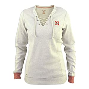 Nebraska Cornhuskers Ladies Grey Huddle Fleece by Antigua