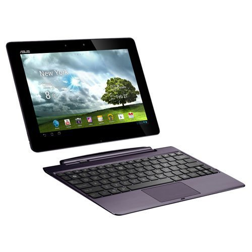 Asus Transformer Pad TF700T 25,6 cm (10,1 Zoll) Convertible Tablet-PC (NVIDIA Tegra 3 Quad Core, 1,6GHz, 1GB RAM, 32GB HDD, Touchscreen, Android, inkl. Dockingstation) amethyst grau