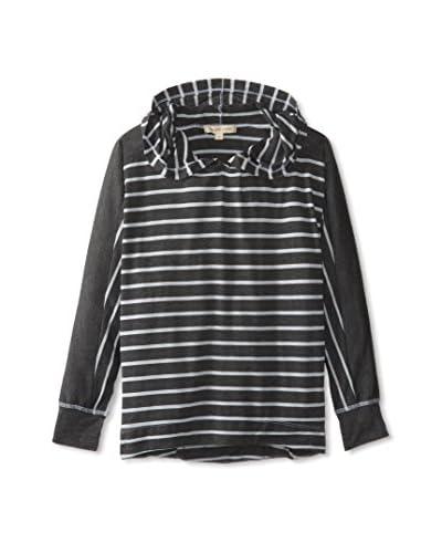 SOLOW Women's Striped Hoodie