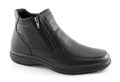 ENVAL SOFT 48980 nero scarpe uomo stivaletti doppia zip laterale 41