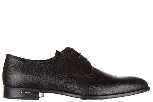 Prada scarpe stringate classiche uomo in pelle nuove saffiano derby nero EU 44 2EC062_053_F0002
