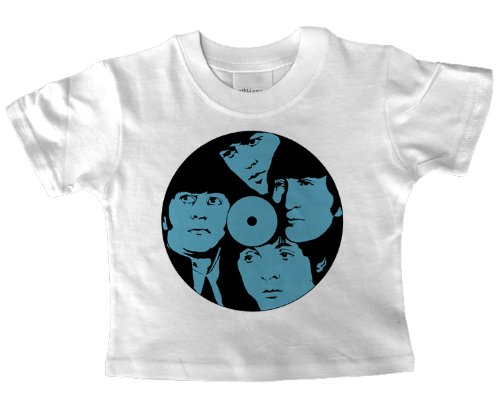 Beatles Record Bambino T Shirt Bianco bianco white 5-6 yrs old