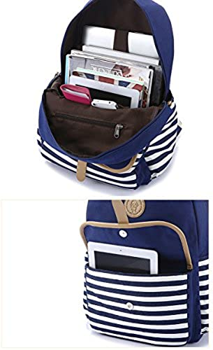 07. Leaper Thickened Canvas Laptop Bag Shoulder Daypack School Backpack Causal Handbag