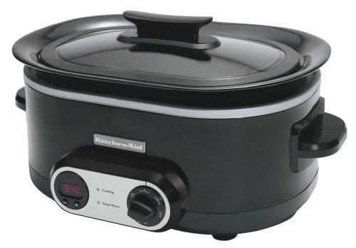 Digital Slow Cookers: KitchenAid KSC700OB 7-Quart Slow Cooker, Onyx Black