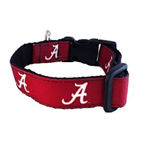 NCAA Alabama Crimson Tide Dog Collar (Team Color, Large)