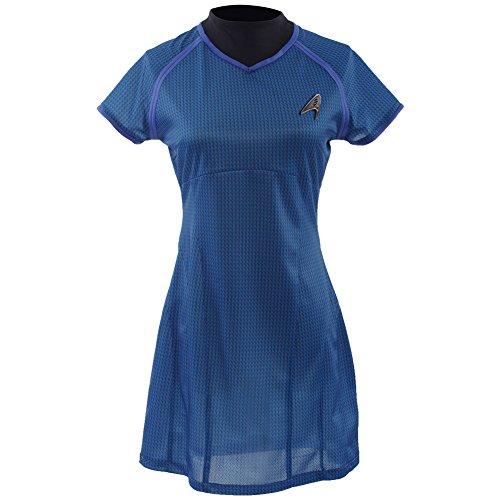 Allten Women's Costume Star Trek Into Darkness Marcus Blue Dress Female XXL