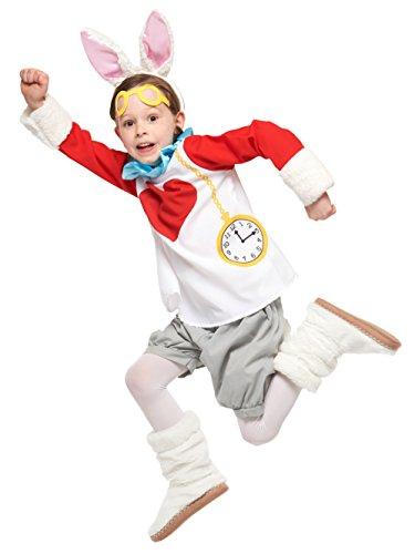 ディズニー ふしぎの国のアリス ホワイトラビット 白うさぎ キッズコスチューム 男女共用 100cm-120cm 95334S