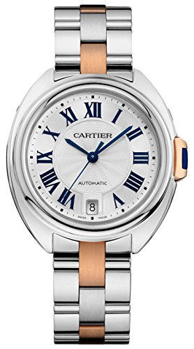 Cartier Cle de Cartier W2CL0004 Steel and 18k Rose Gold Automatic Ladies Watch