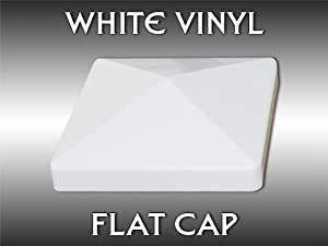 "4"" White Flat Vinyl Post Cap"